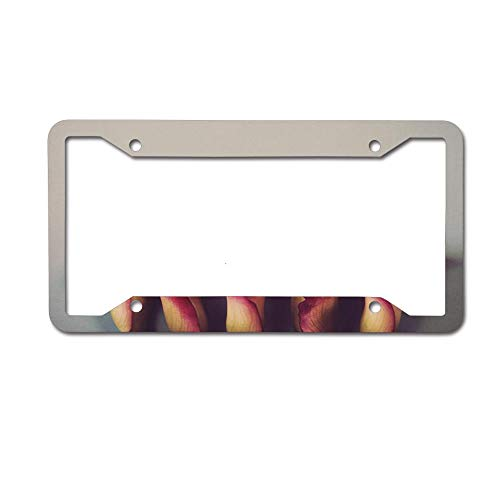 (AoshangGardeflag Calla Lilies Custom Personalized Metal License Plate Frame (12X6)-Made of Aluminum 4 Holes.)