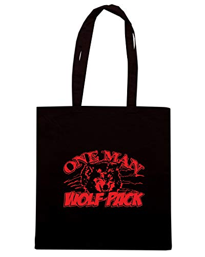 Borsa Shopper Nera TB0031 ONE MAN WOLF PACK