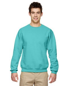 (Jerzees 562 Adult Nublend Crew Neck Sweatshirt - Scuba Blue, Medium)