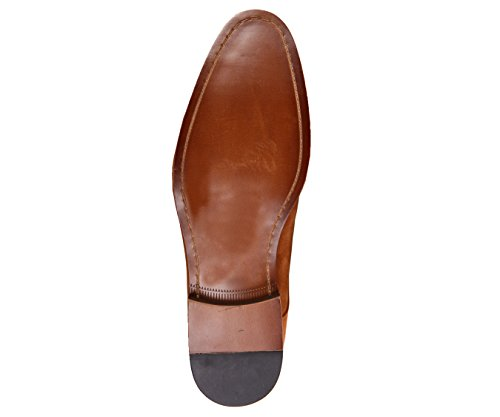 Toe Shoe Green Up Oxford Mens Like Brown Cap Style AG3889 Suede Asher With Genuine Dress Cognac Wood Lace Sole xAqvXy1