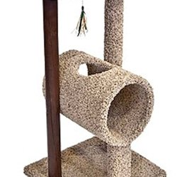 Ware Manufacturing Wood Kitty Tunnel and Lounge with Corrugate Panel, My Pet Supplies