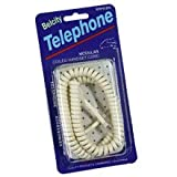 50Ft Coil Phone Cord Ivory, Office Central