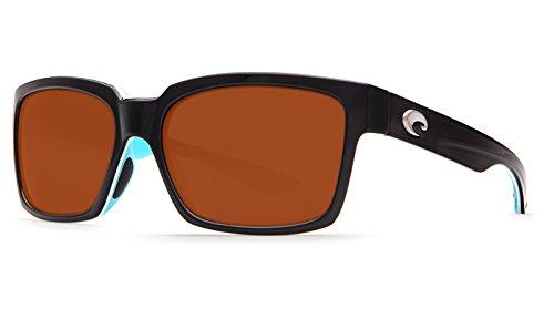 Costa Del Mar Playa Polarized Sunglasses Black/White/Aqua / Copper Glass W580
