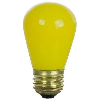 2PK - SUNLITE 11w S14 Ceramic Yellow lamp 120v Medium Base lamp