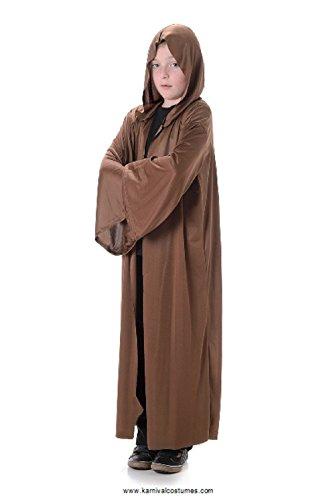Kids Brown Hood Robe – Long Tunic Cloak