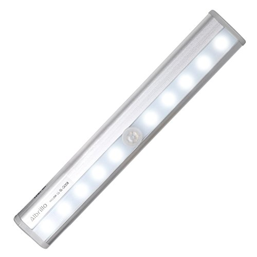Albrillo Closet Light Motion Sensing Wireless Under Cabinet Lighting Stick on 10 LED