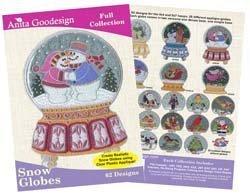 Anita Goodesign Embroidery Machine Designs Snow Globe - Globe Machine
