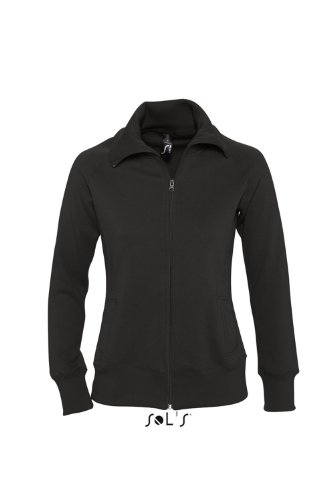 Sols Soda Damen Sweatjacke m. Stehkragen XL,Black