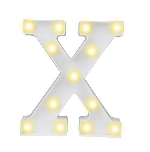 Mikash LED Marquee Letter Lights Alphabet Light Up Sign for Wedding Home Party Bar Tion X | | Model WDDNG - 264 ()