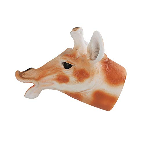 Likero Cosplay Animal Head Hand Puppets Costume Halloween Scary Toy Spoof Rex Head Gloves Tricky Game Toy (Giraffe Hand Puppets)
