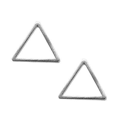 Spinningdaisy Handcrafted Brushed Triangle Earrings