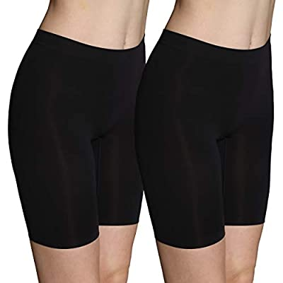 Innersy Women's 2-Pack Seamless Smooth Fitting Nylon/Spandex Slip Shorts