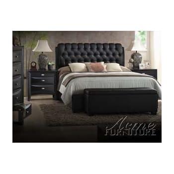 Amazon.com: Ireland Black PU Eastern King Bed Set: Kitchen & Dining