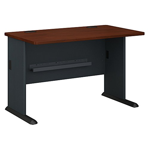 Bush Business Furniture Series A 48W Desk in Hansen Cherry and Galaxy