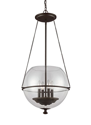 Sea Gull Lighting 6511904-715 Four 6511904-715-Four Light Pendant, Brown
