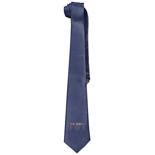 [Ggift The NBHD Band Logo Men's Fashion Business Solid Necktie Tie] (Matt Barkley Costume)