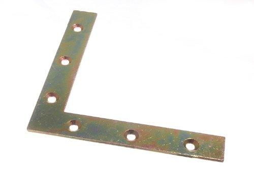 FLAT CORNER BRACE BRACKET 125MM X 20MM X 2.5MM 6MM HOLE YZP ( pk 100 )