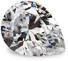 Ratnagarbha Cubic Zirconia Cut pear Faceted Loose gem Stone, American Diamond, White Zircon, cz Stone, Jewelry Making, Wholesale Price.