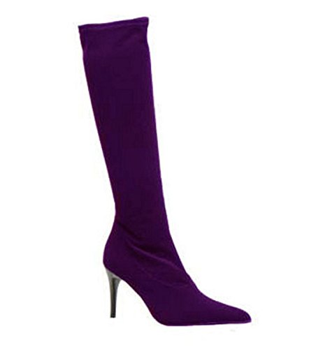 Model Finess Suede Boots by HGilliane Design EU 33 to 44 Customized only Purple jP9QGlA