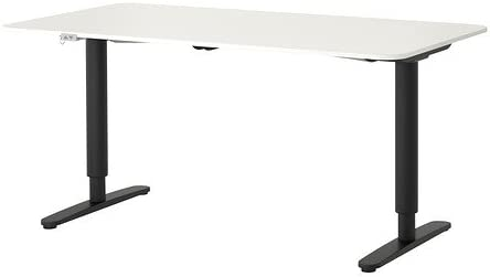 Ikea Bekant - Mesa de Escritorio, Color Blanco y Negro: Amazon.es ...