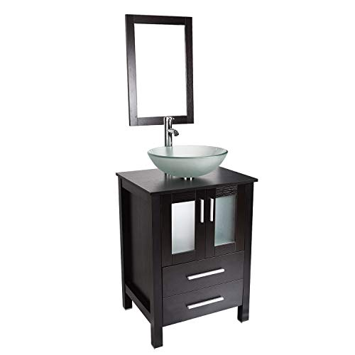 Bathroom Vanity and Sink Combo - 24 Inch Traditional Vanity Cabinet with -
