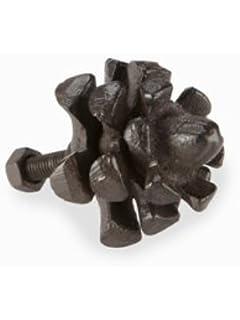 Amazon.com: Abbott Collection Dark Brown Pinecone Drawer Knob ...