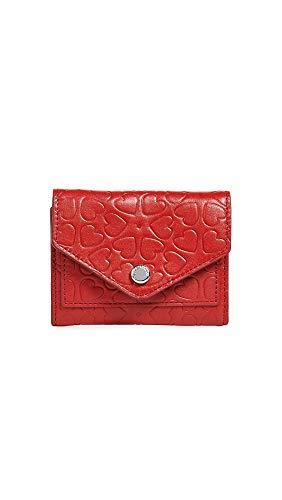 Rebecca Minkoff Women's Bi-Fold Key Ring Wallet, Tomato, Red, Print, One (Best Rebecca Minkoff Womens Wallets)