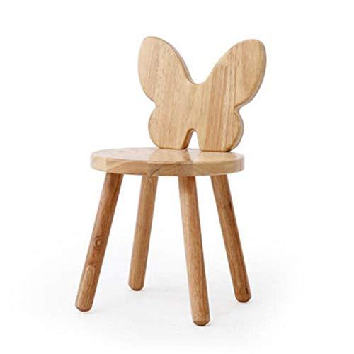 Jolly Cartoon Creative Deco Child Wooden Chair Foot Stool Perfect for Children, Nursery & Kitchen (Design : Butterfly)