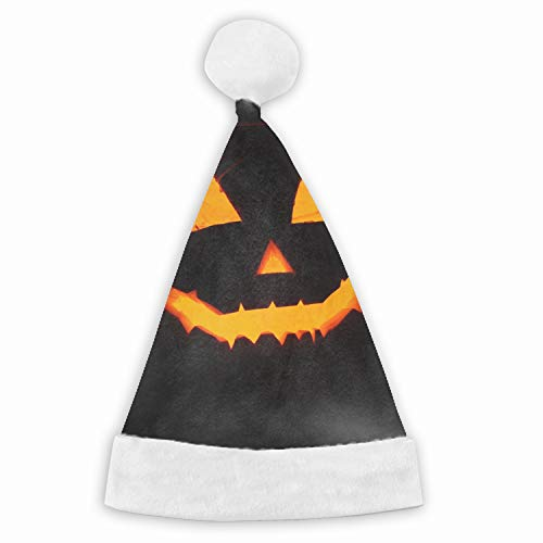 Halloween Face Velvet Santa Hat with Plush Trim, Two Size Fits Most for Adult's and -