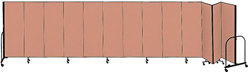 (Screenflex - CFSL5013 BEIGE - 24 ft. 1 in. x 5 ft, 13-Panel Portable Room Divider, Beige)