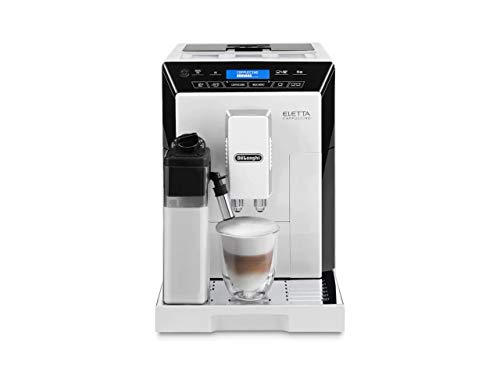 DeLonghi ECAM44660 Eletta Fully Automatic Espresso, Cappuccino and Coffee Machine with One Touch LatteCrema System and Milk Drinks Menu (White, ECAM44660B)