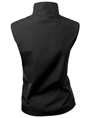 Xpril 2-Tone All Weather Proof Vest Black Size L by Xpril (Image #2)