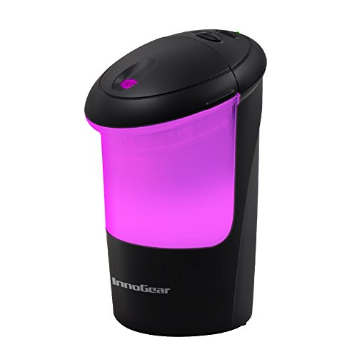 InnoGear USB Car Essential Oil Air Refresher Ultrasonic Aromatherapy Diffusers with 7 Colorful LED Lights for Office Travel Home Vehicle