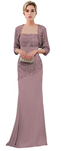 VaniaDress Women Long Mother of The Bride Dress with Jacket Formal Gowns V263LF Vintage Mauve US16 ()
