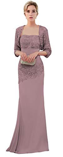 VaniaDress Women Long Mother of The Bride Dress with Jacket Formal Gowns V263LF Vintage Mauve US10
