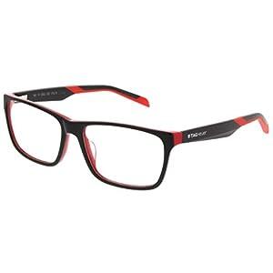 Tag Heuer 0552 Eyeglasses 002 Black/Red 57MM