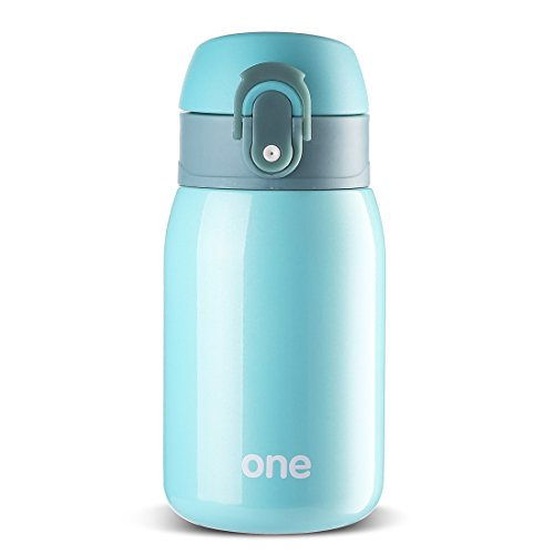 Stainless Steel Vacuum Flask, Travel Mug for Kids, Mini Water Bottle, Coffee Cup 9oz New Easy one hand operation