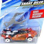 Hot Wheels Speed Racer Snake Oiler Race Car and Race-Wrecked Set ()