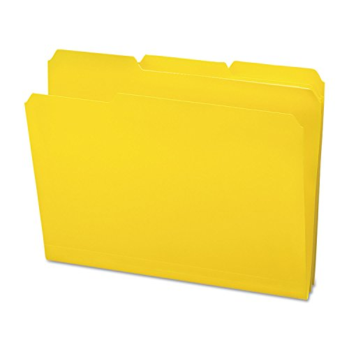 Smead Water - Smead 10504 Waterproof Poly File Folders 1/3 Cut Top Tab Letter Yellow 24/Box