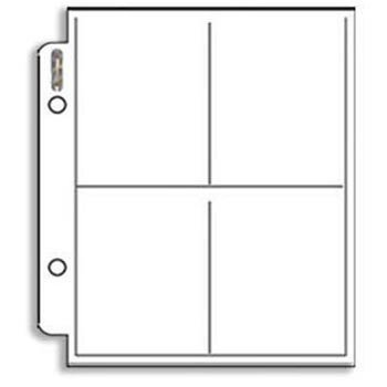 (Sports Images, Inc. Ultra PRO 4 Pocket Mini Pages for Small ALBUMS-100 Count)