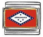 Arkansas State Flag Italian Charm Bracelet Link