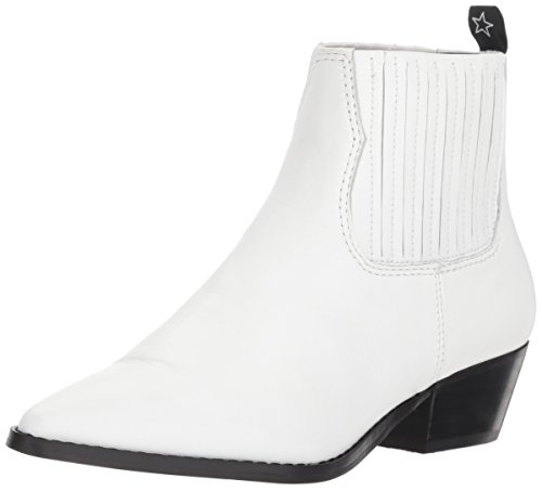 Steve Madden Women's Westie Western Boot, White Leather, 8 M US