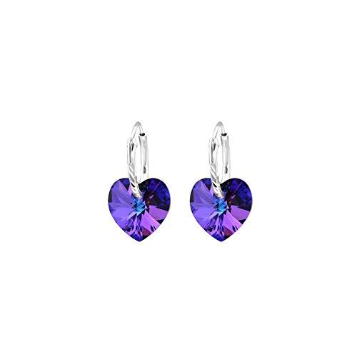 Hanging Heart Earrings 925 Sterling -
