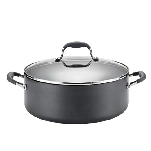 Anolon Advanced Hard-Anodized Nonstick 7.5-Quart Covered Wide Stockpot, Gray