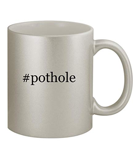 #pothole - 11oz Hashtag Silver Coffee Mug Cup, Silver (Implementing Change Patterns Principles And Potholes 4th Edition)