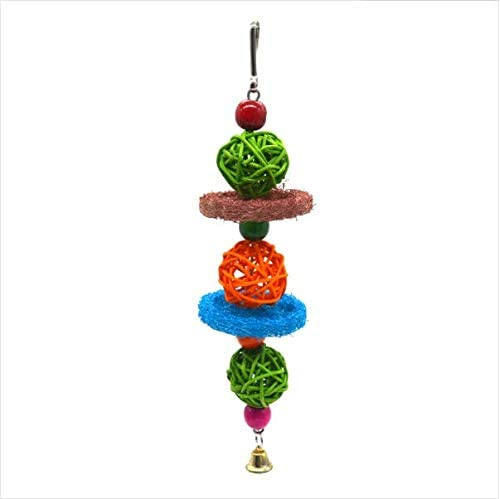 WEIYU 14 PCS Bird Swing Chewing Toys-Small Wooden Parrot Toys Hanging Bell Birds Cage Toys Suitable for Small Parakeets Cockatiel Conures,Finches,Budgie,Macaws Parrots Love Birds
