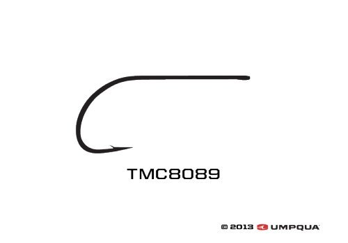 Umpqua Tiemco Fly Tying Hooks TMC 8089 (25 Pk) 06 (Spu