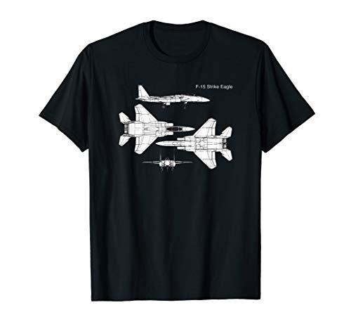 F-15 Strike Eagle Graphic Shirt Military Aircraft ()
