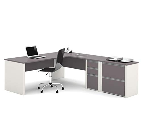 Bestar 2-Piece Set Including a L-Shaped Desk and a lateral File Cabinet - ()