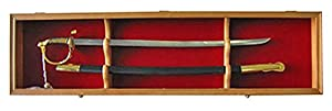 1 Sword Display Case Cabinet Stand Holder Wall Rack Shadow Box - Lockable w/ 98% UV Protection